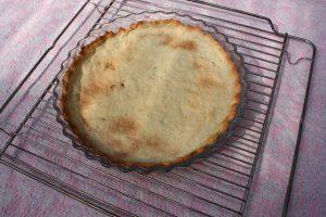 Grillet jordbærtærte - bunden
