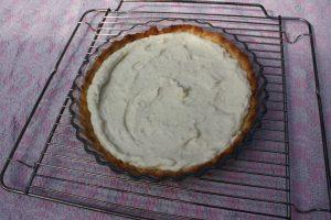 Grillet jordbærtærte - bund med crème le Paris
